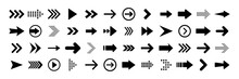 Arrows Big Black Set Icons. Ar...