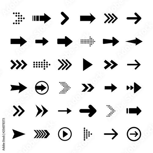 Canvas Prints Textures Arrows big black set icons. Arrow icon. Arrow vector collection. Arrow. Cursor. Modern simple arrows. Vector illustration.