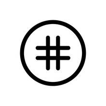 Hashtag. Number Sign, Hash, Or...
