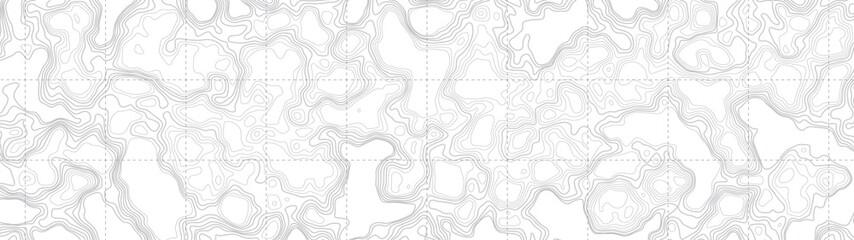 Ultra široka pozadina Sažetak prazne topografske konturne karte suptilne bijele vektorske pozadine. Topografska kartografija. Topografska karta. Topografski reljef. Karta topografije. Reljef topografije