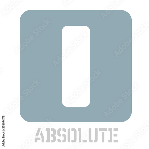 Fotografie, Obraz  Absolute concept icon on white