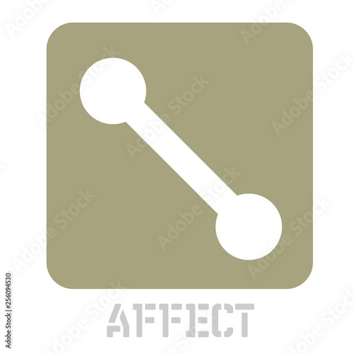 Fotografering  Affect concept icon on white