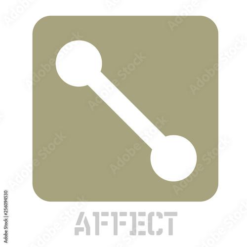 Fotografie, Obraz  Affect concept icon on white