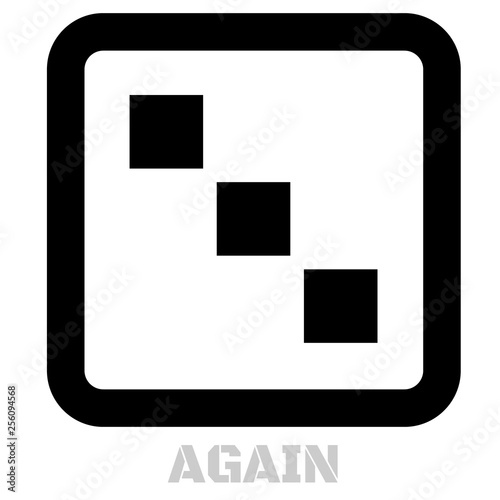 Again concept icon on white Canvas Print