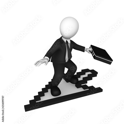3d white businessman with mouse cursor - Buy this stock