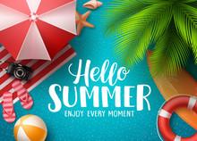Hello Summer In The Beach Vect...