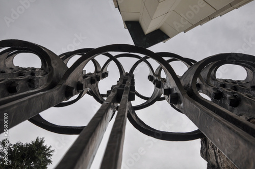 Fotografie, Obraz  Budapest Hungary Wrought Iron Gate