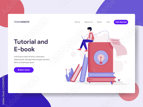 Landing Page Template Of Tutorial And E Book Illustration Concept Isometric Flat Design Concept Of Web Page Design For Website And Mobile Website Vector Illustration Buy This Stock Vector And Explore Similar Vectors