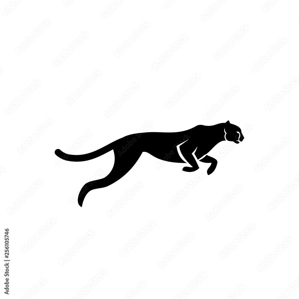 cheetah run logo icon designs vector illustration template stock gamesageddon cheetah run logo icon designs vector
