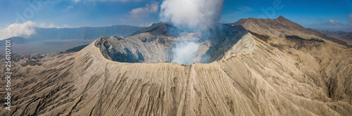 Fototapeta Beautiful panorama view of Mount Bromo volcano in East Java of Indonesia