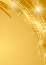 Gold Wave Abstract Background ...