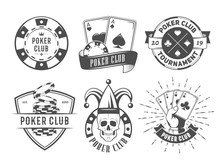 Vector Poker Club Logos. Set O...