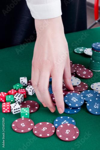 Photo  Diverse adults gambling shoot