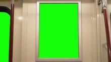 Subway Billboard Poster And Window Green Screen Chroma Key Background Display
