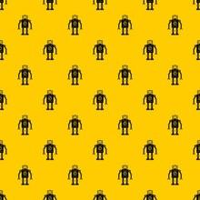 Retro Robot Pattern Seamless V...