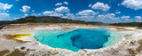 Fototapeta Tęcza - Deep blue hot springs pool
