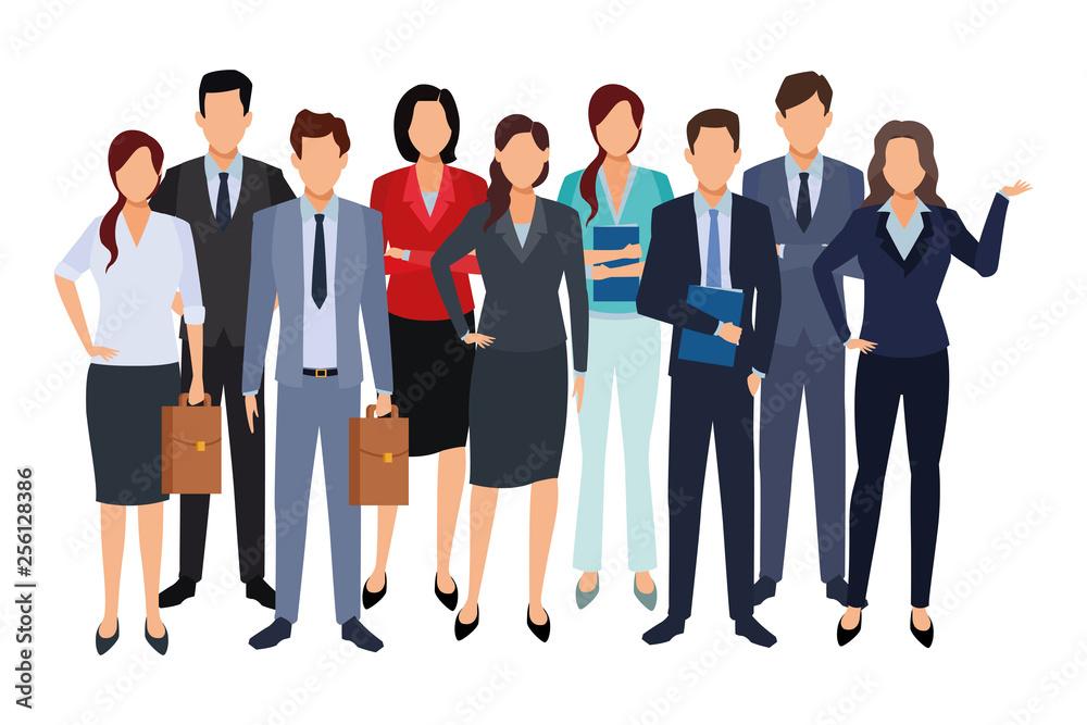 Fototapeta executive business cartoon