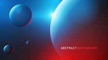 3d Planety Tło Wektor