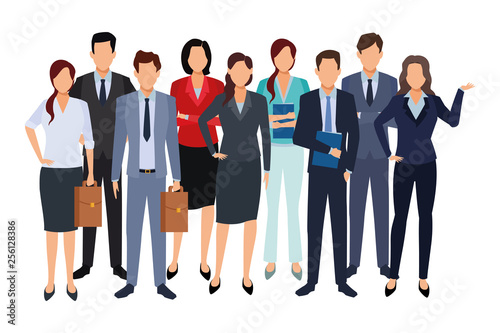 Fototapeta executive business cartoon obraz