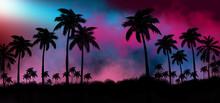 Night Landscape With Stars, Su...