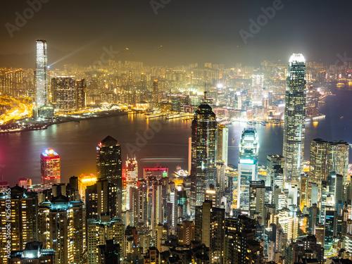 Poster Australie 世界三大夜景 香港 ビクトリア・ハーバー