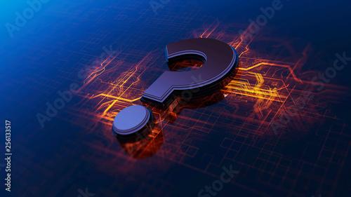 Fotografija Interrogative simbol 3D Rendering
