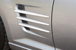 surface of sport car door and scoop in ultramodern style detail of concept racing vehicle