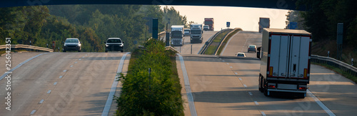 traffic on the highway in Germany