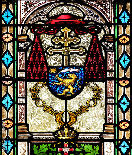 Tuinposter Imagination Stained glass in Zagreb cathedral
