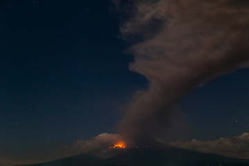 Puebla Mexico- March 18, 2019 Popocatepetl volcano eruption
