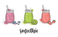 Smoothies With Fruit And Berries