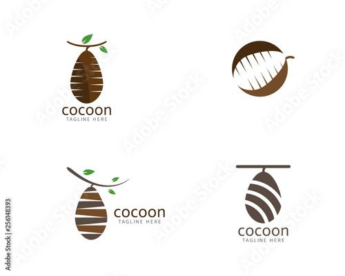 Foto Cocoon logo template vector icon illustration design
