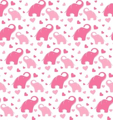 Cute elephant seamless  pattern