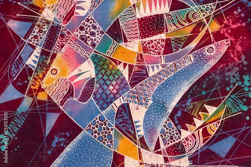 Photo indonesian batik detail