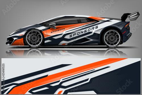Car decal wrap design vector Fototapete