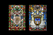 Coat Of Arms Of The Count Ladislav Pejacevic, Stained Glass In Zagreb Cathedral