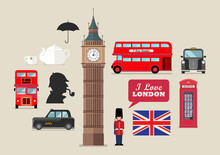 London National Symbols Vector...
