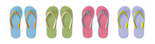 Set Of Colored Flip Flops - Su...