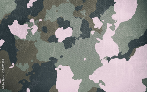 Fotografía Dirty camouflage fabric texture for background