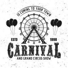 Carnival Funfair And Ferris Wh...