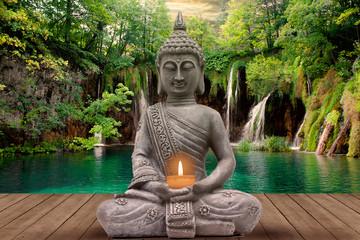 Fototapeta Do Spa buddha and silence
