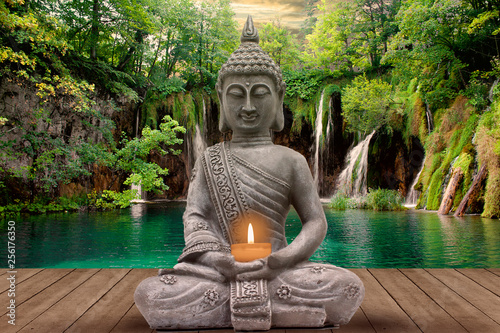 Papiers peints Buddha buddha and silence