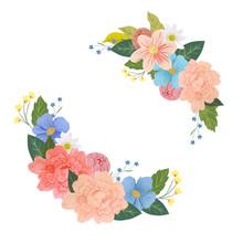 Gouache Floral Wreath