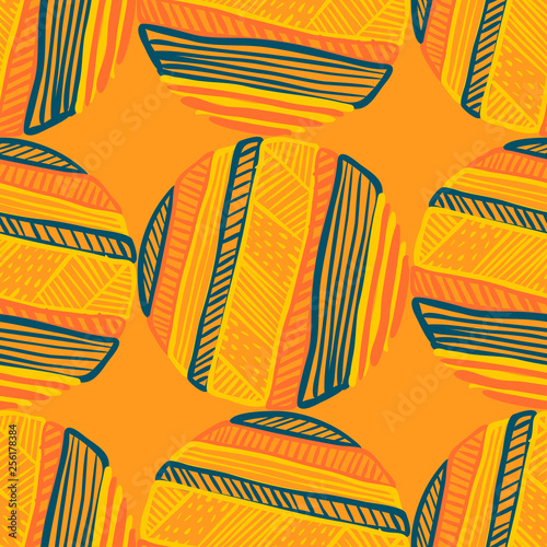 Abstract Ikat and boho style handcraft fabric pattern. Traditional Ethnic des...