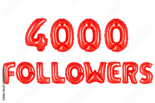 Fotografie, Obraz  four thousand followers, red color