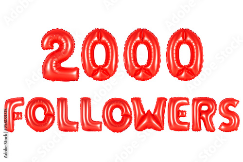 Fotografia  two thousand followers, red color
