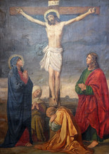 12th Stations Of The Cross, Jesus Dies On The Cross, Church Of Visitation Of The Virgin Mary In Sisak, Croatia