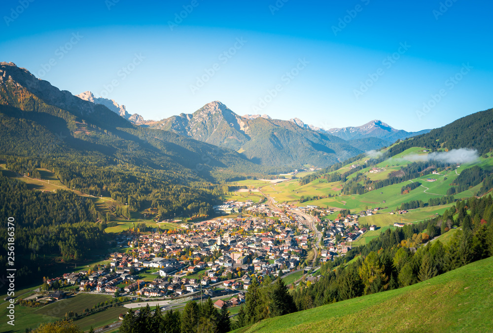 Fototapety, obrazy: san candido, town in the middle of dolomites mountains. south tyrol, italy
