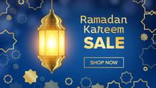 Ramadan Sale Banner Vector. Ar...