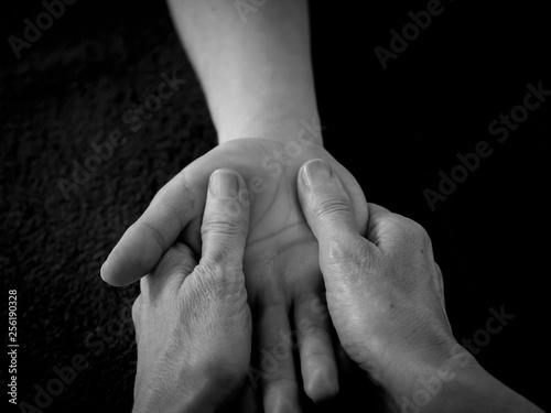 Massage mains Canvas Print